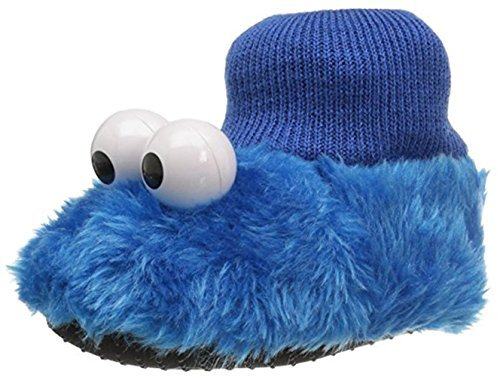 Sesame Street Baby Cookie Monster Puppet Slipper (X-Small / 3-4 M US Toddler, Cookie Monster Puppet) Blue by Sesame Street