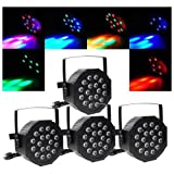 4pcs 80W LED DJ Par Can Lights DMX Disco Par Lamp