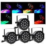 4pcs 80W LED DJ Par Can Lights DMX Disco Par Lamp