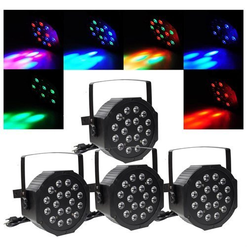 4pcs 80W LED DJ Par Can Lights DMX Disco Par Lamp by AV Prime Inc.