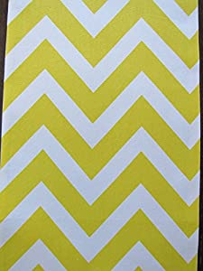 Yellow Chevron Table Runner - Crabtree Collection (12 x 72)