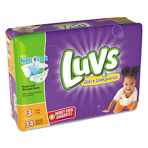"""Luvs - Diapers Size 3: 16 To 28 Lbs 34/Pack 4 Pack/Carton """"P"""