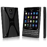 BoxWave BlackBerry Passport BodySuit, Premium Textured TPU Rubber Gel Skin BlackBerry Passport Case - Premium Shock Absorption (Jet Black)