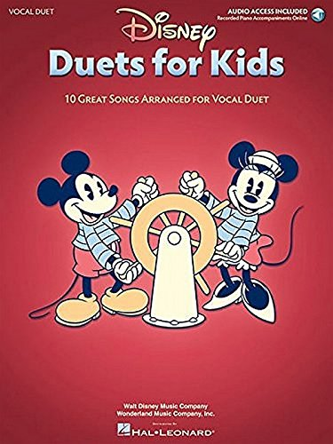 Disney Duets for Kids: 10 Great Songs Arranged for Vocal Duet Book/Audio