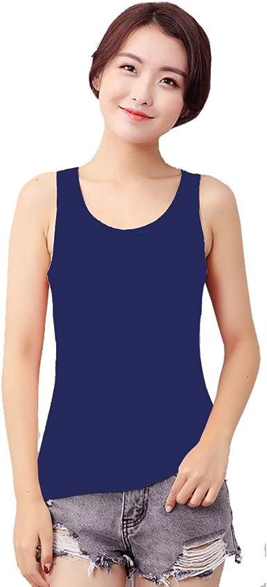 Zooma Camiseta de Tirantes de Algodón para Mujer, Camiseta de Tirantes para Mujer, 100% algodón: Amazon.es: Ropa y accesorios