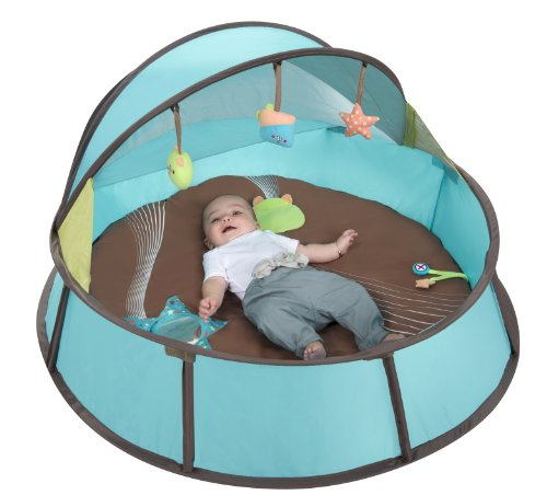 Babymoov Babyni | Activity Gym, Pop-Up Tent & Travel Bassinet for Babies | For Indoor & Outdoor Use | UPF 50+ Canopy, Mosquito Net + 6 Toys Included