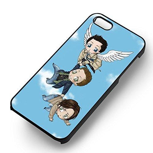 Supernatural Winchesters et Castiel pour Coque Iphone 6 et Coque Iphone 6s Case (Noir Boîtier en plastique dur) L1P2FN