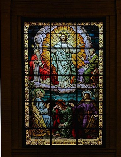 Photograph| Stained-glass window at the Catholic Basilica of St. Lawrence in Asheville, North Carolina 3 Fine Art Photo Reproduction 44in x 60in