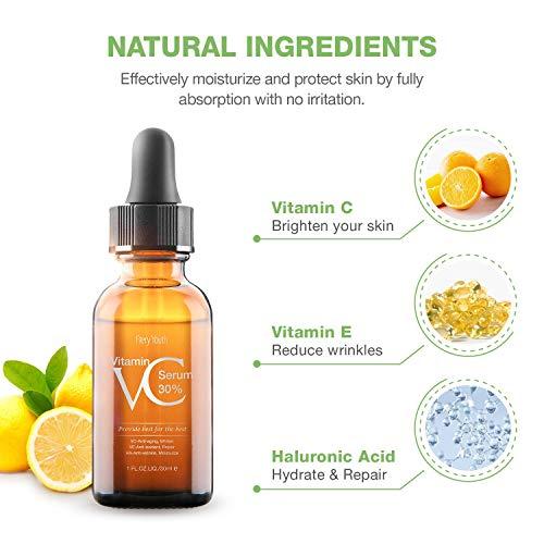 51 l9j41HnL - 30% Vitamin C Serum for Face,Hyaluronic Acid & Vitamin E - Natural & Organic Anti Wrinkle Whitening Vitamin C Serum for All Skin - Anti Aging Serum-1 fl oz.