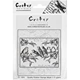 """Crafty Individuals Unmounted Rubber Stamp, 4.75 x 7"""", Holly Jolly Robins"""