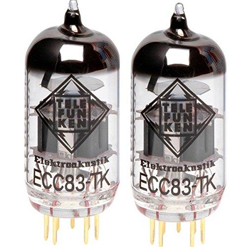 TELEFUNKEN Elektroakustik Matched Pair of ECC83-TK   Black Diamond Series 9 Pin Replacement Vacuum Tube 12AX7
