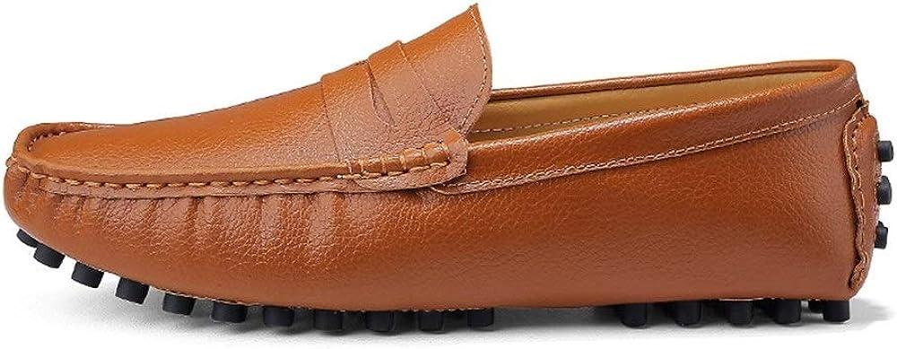 Mocassins de Bateau en Cuir PU pour Homme avec Enfiler des Chaussures de Style de Slip-on surbaiss/ées Mocassins pour Hommes