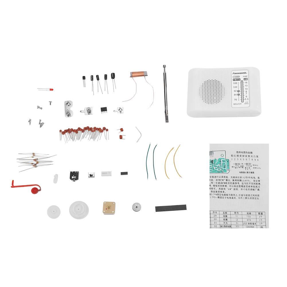 CF210SP AM/FM Doppelfrequenzband-Radio-Bausatz Elektronischer Montagesatz Einfach zu löten und zu verwenden Hilitand