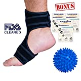Plantar Fasciitis Night Splint by Marvel Med | Dorsal Foot Splint for Plantars Fasciitis | Adjustable Brace for Achilles Tendonitis | Adjustable Size for Women, Men | Right or Left Foot and Ankle