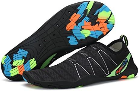 Unisex Water Socks Shoes Voovix Black Neon Green Women 8-8.5 Youth 5 EU 39