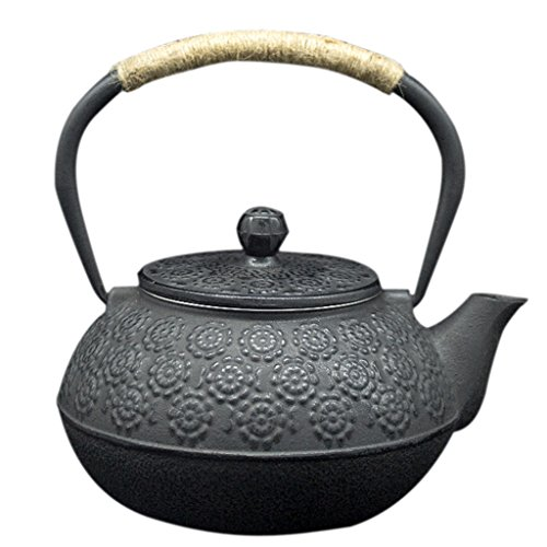 Flameer Cast Iron Tea Kettle. Fireplace humidifier Wood Stove Humidifier Sakura (Humidifier Wood Iron Cast Kettle Stove)