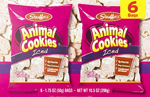 Stauffers Iced Animal Cookies & Animal Crackers Variety Pack (3- 6 count boxes)