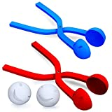 2 Snowball Maker with Smiley Happy Face - Red and Blue