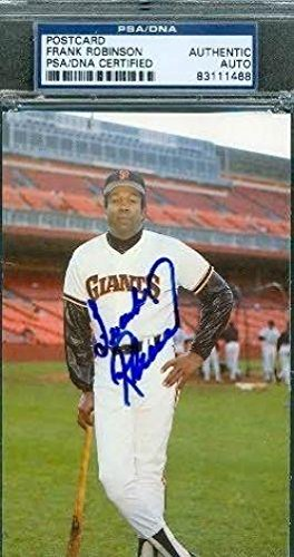 Frank Robinson Autographed Photograph - Team Iss Authentic - PSA/DNA Certified - Autographed MLB Photos