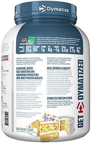 Amazon Dymatize ISO 100 Whey Protein Powder Isolate Birthday Cake 3 Pound Health Personal Care