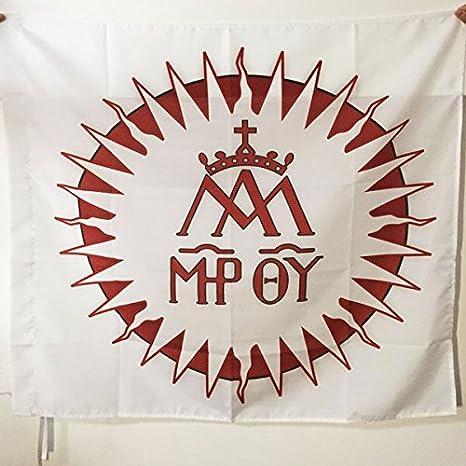 AZ FLAG Bandera Orden DE LOS CLÉRIGOS Regulares DE Las ESCUELAS PÍAS 90x90cm para Palo - Bandera Ejercito DE Francia 90 x 90 cm: Amazon.es: Jardín