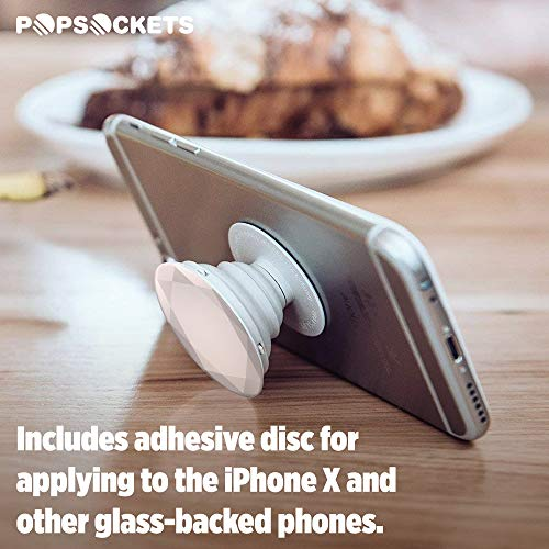 PopSockets: Collapsible Grip & Stand for Phones and Tablets - Rose Gold Metallic Diamond by PopSockets (Image #5)