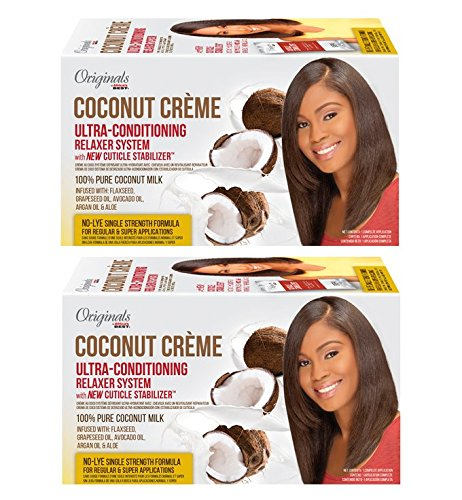 2 Creme Conditioning - [ TRENDING PACK OF 2 ] AFRICA'S BEST COCONUT CREME ULTRA-CONDITIONING RELAXER SYSTEM 100 % PURE COCONUT MILK 1APP