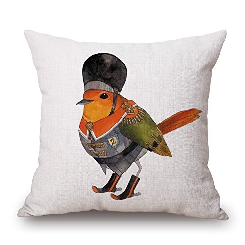 Jr Twin Chair Cover (16 X 16 Inches / 40 By 40 Cm Bird Throw Pillow Case,each Side Is Fit For Chair,floor,home Office,coffee)