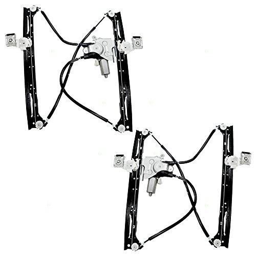 Power Window Lift Regulator with Motor Assembly Passenger Front Replacement for Chevrolet GMC Isuzu SUV 88980704
