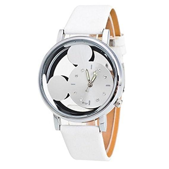 Las chicas el paraíso secreto Mickey Mouse relojes baratos de las mujeres de regalo de