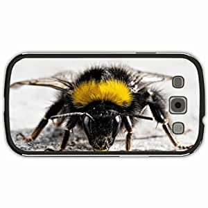 New Style Customized Back Cover Case For Samsung Galaxy S3 Hardshell Case, Black Back Cover Design Bee Personalized Unique Case For Samsung S3