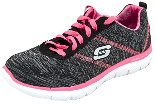 Skechers Sport Women's Flex Appeal 2.0 Fashion Sneaker (7 B(M) US, Black/Hot Pink)