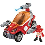 Fisher-Price Rescue Heroes - Rip Rockefeller and his Fire Fighting Buggy