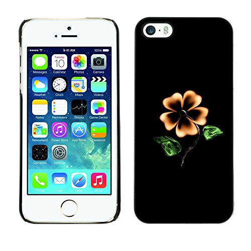 TopCaseStore / caoutchouc Hard Case Housse de protection la Peau - Flower Black Yellow Garden Art Painting Blossom - Apple iPhone 5 / 5S