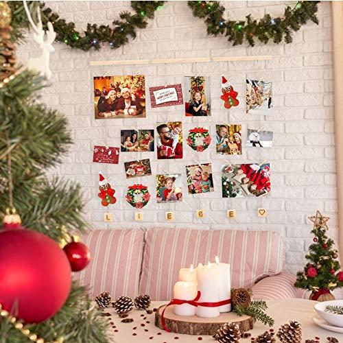 SallyFashion Bilderrahmen, Liebe Collage Fotorahmen Bilderrahmen mit Klammern Geburtstag Hochzeit Weihnachten