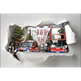 Stickersnews - Sticker Trompe l oeil papier déchiré déco Londres réf 1371 Dimensions - 30x20cm