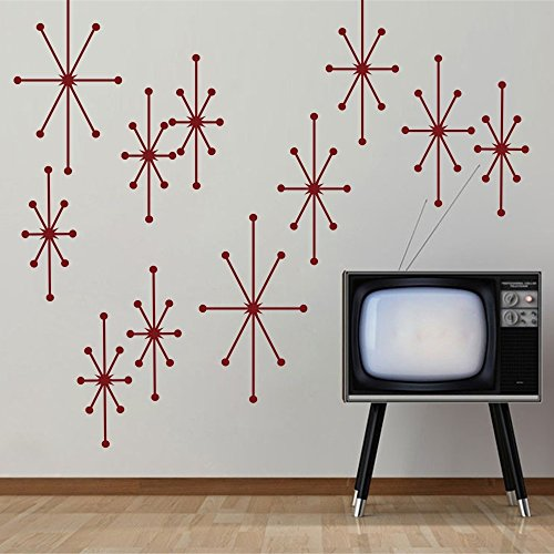 Atomic Starbursts Vinyl Wall Decals Mid Century Modern Wall Sticker Retro Wall Mural Home Art Decoration 51 lEj6DSLL