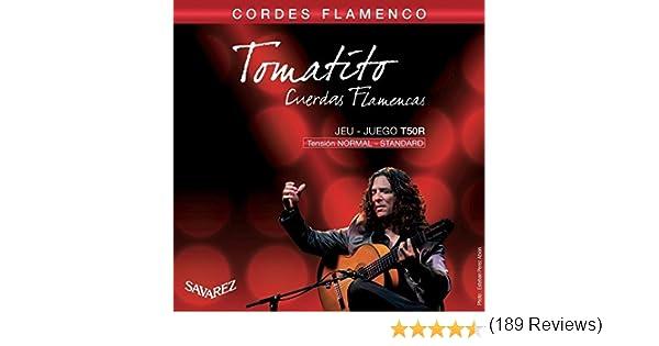 Savarez Cuerdas para Guitarra Clásica Flamenco juego T50R Tensión ...