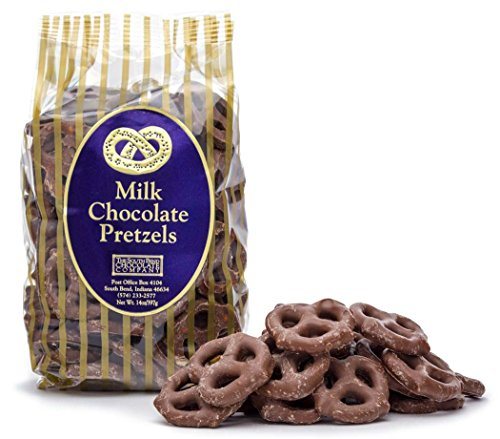 The South Bend Chocolate Company Chocolate Covered Pretzels 14 Ounce Bag (Milk Chocolate)