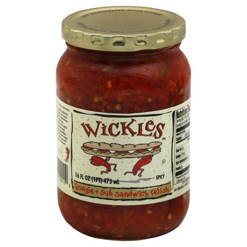 Jalapeno Pepper Relish - Wickles Red Jalapeno Pepper Hoagie & Sub Sandwich Relish - 16 oz