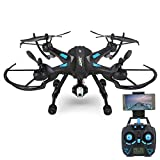 Fitiger Remote RC Drone FPV 2.4GHz 6-Axis Gyro Remote Control Drone with 0.3MP HD C4015 Camera Drone With Wifi Camera Video Live Drone for Kids and Adults