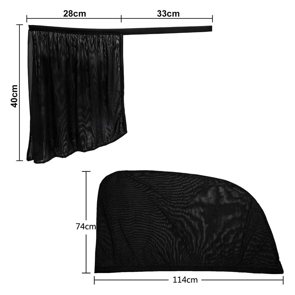 Tirol Sides Window Sunshades Universal All 4 pcs//set Car Curtains the Whole Sun UV Visor Protector Mesh Cover Privacy Shield