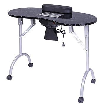 Amazon.com: Moonvvin - Mesa de manicura portátil, mesa de ...