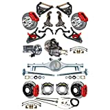 """NEW SUSPENSION & WILWOOD BRAKE SET WITH SPINDLES, CURRIE REAR END & AXLES, POSI, 11"""" DRILLED DISCS, RED CALIPERS, MASTER CYLINDER BOOSTER ARMS 1964 1965 1966 CHEVELLE EL CAMINO CUTLASS 442 GTO LEMANS"""