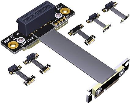 PCI-e Express 1X vers 3 Ports 1X Multiplicateur HUB Riser Carte Adaptateur Convertisseur C/âble USB 640mm lzndeal Carte mini/ère