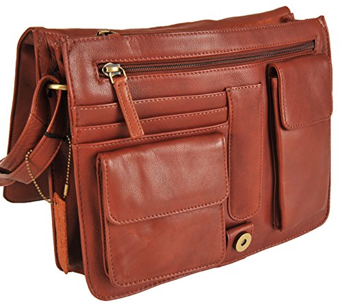 Handbag Organiser Brown 754 'tess' 5 Medium Colourways Leather Visconti AXnxI8Hwqx