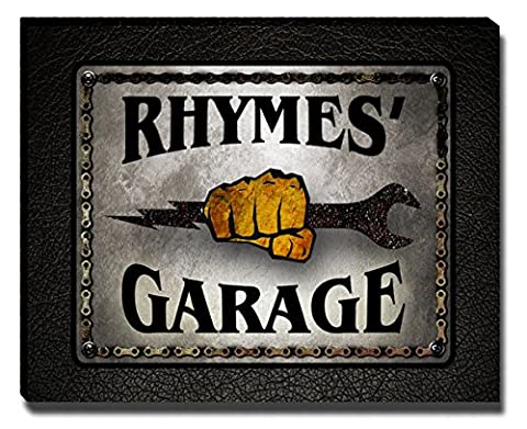 Rhymes's Garage Mechanic Gallery Wrapped Canvas Print (Cvs Rhymes)