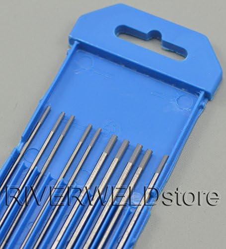 2 porcentaje Ceriated WC20 Gris TIG Soldadura electrodos tungsteno Tama/ño variado de 1,0mm x 150mm 1,6mm x 150mm 2,4mm x 150mm 3,2mm x 150mm,10pcs