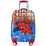 Texas Usa Polycarbonate 18 Inch Spiderman Blue 2000Cms 4 Wheel Kids Hardsided Trolley Bag