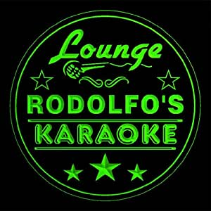 4 x ccpk0386-g Rodolfo Karaoke Bar de cerveza 3D grabado prácticos de costa de grabado al agua fuerte